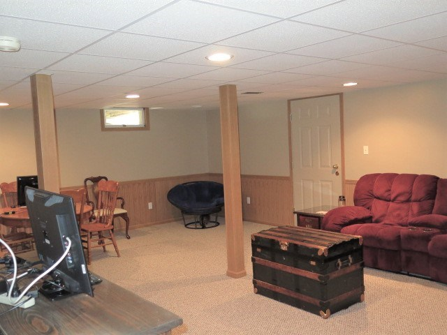 Downstairs Family Room, Door to Storage or Craft R