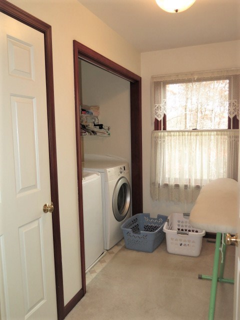Upstairs Laundry Room With Storage