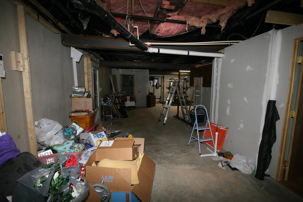 Unfinished part of Basement