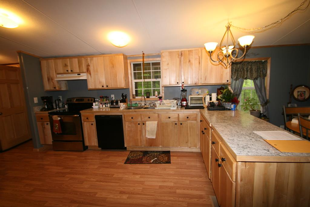 Large Kitchen w New Cabinets and Counter