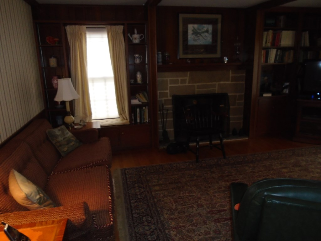 Family Room, Stone Fireplace